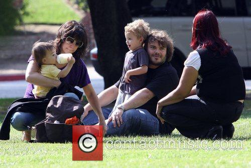 Jack Black spends time with his son at...