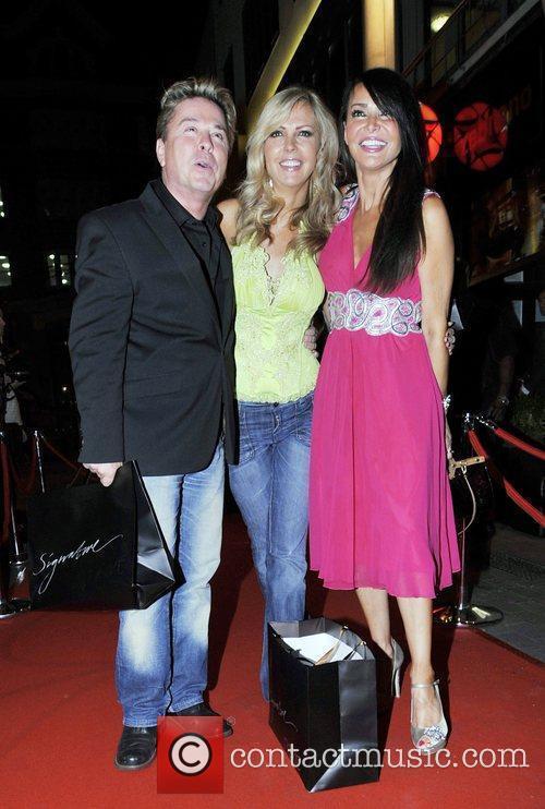David Van Day - Jackie Brambles leaving Party at Zebrano restaurant ...