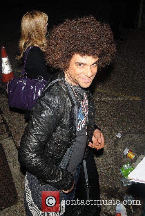 X Factor finalist Jamie Archer leaving a stdio...