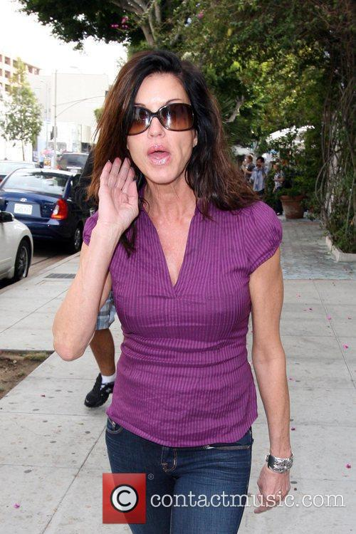 Janice Dickinson shopping at Ted Baker Los Angeles,...