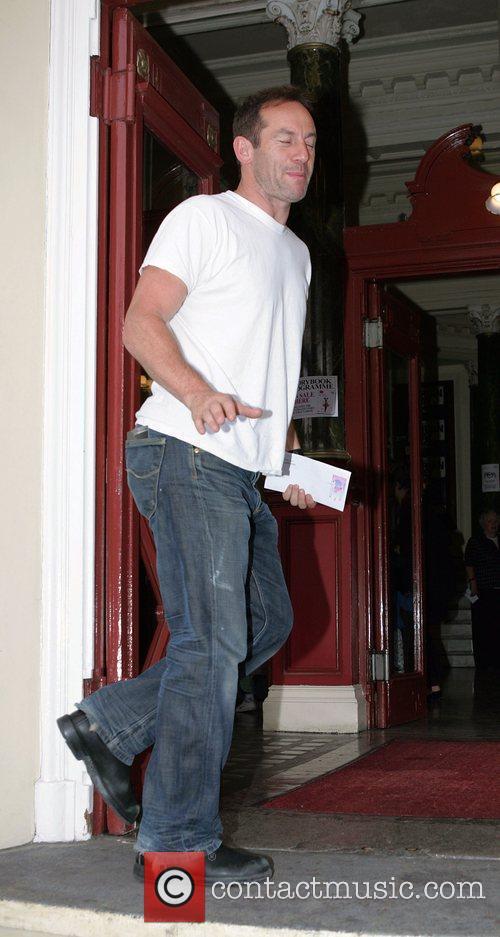 Jason Isaacs arriving at the New Wimbledon Theatre...
