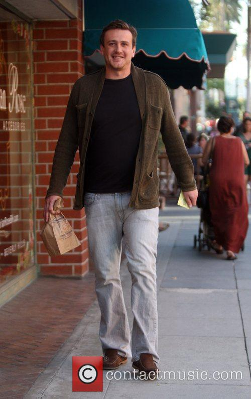 Jason Segal leaves a medical building in Beverly...