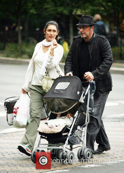 Zofia Borucka and Jean Reno out shopping with...