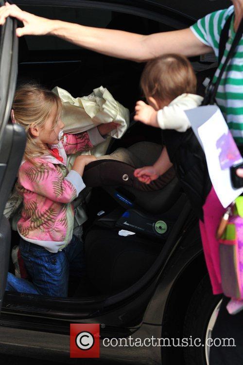 Jennifer Garner arrives to pick up her daughter...