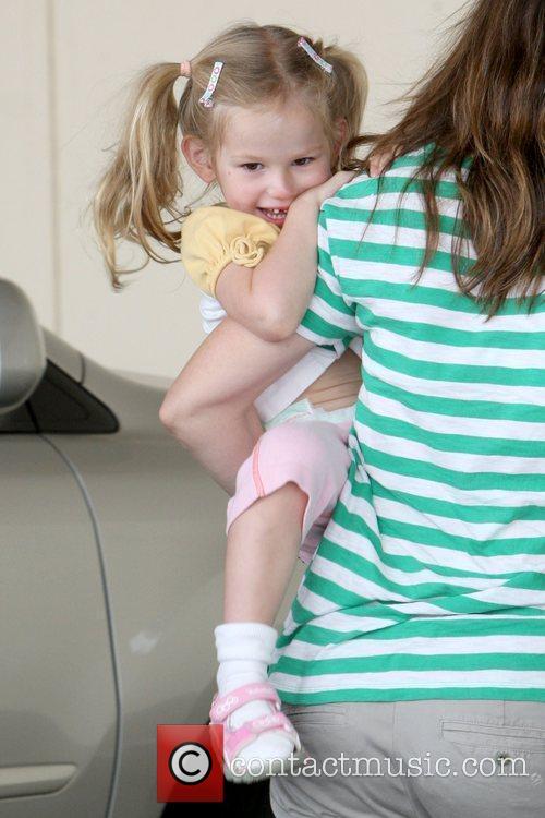 Violet Affleck Jennifer Garner drops off her daughter,...