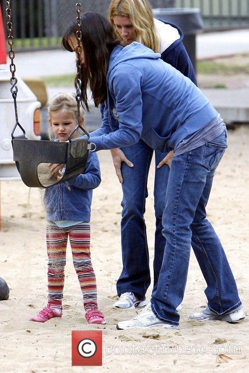 Jennifer Garner plays with her daughter Violet Affleck...