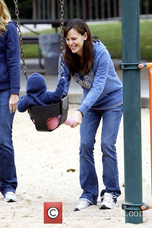 Jennifer Garner plays with her daughter Seraphina Affleck...