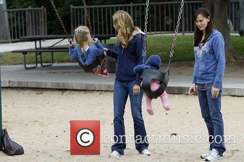 Jennifer Garner takes her daughters Violet Affleck and...