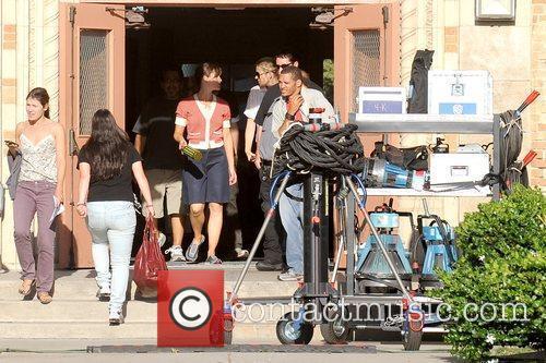 Jennifer Garner  on the set of her...