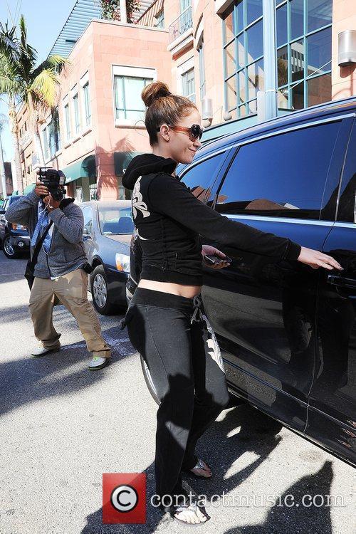 Jennifer Lopez leaving a medical building in Beverly...