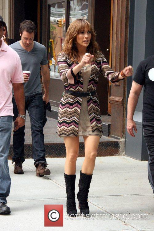 Jennifer Lopez seen on the set of her...