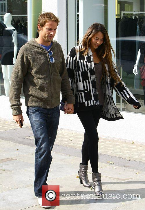 Jenson Button and Jessica Michibata out shopping in...