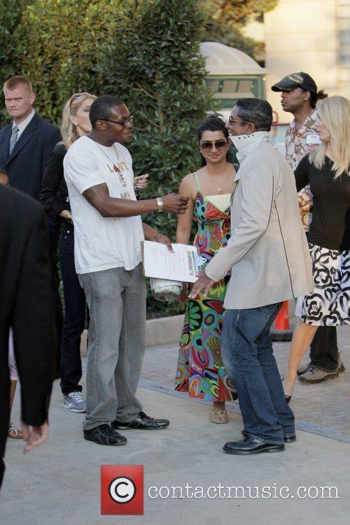 Dynast Amir and Jermaine Jackson visit a luxury...
