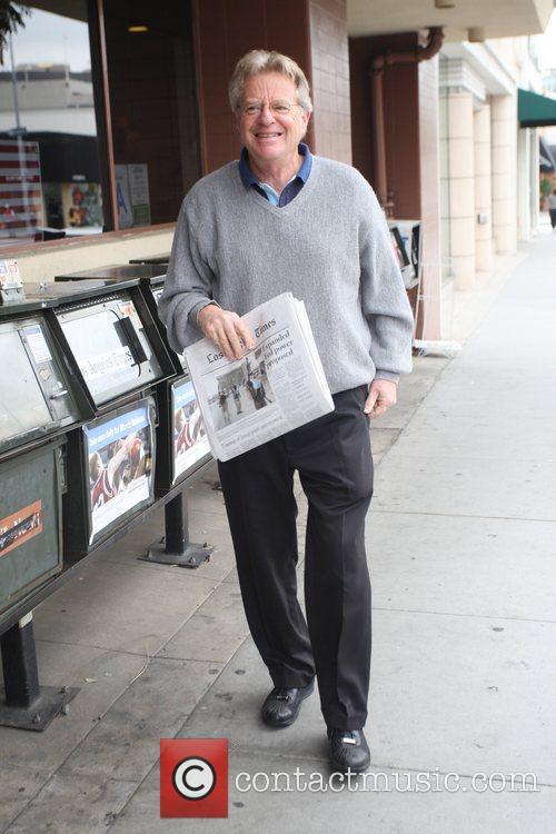 Jerry Springer arriving at a medical centre in...