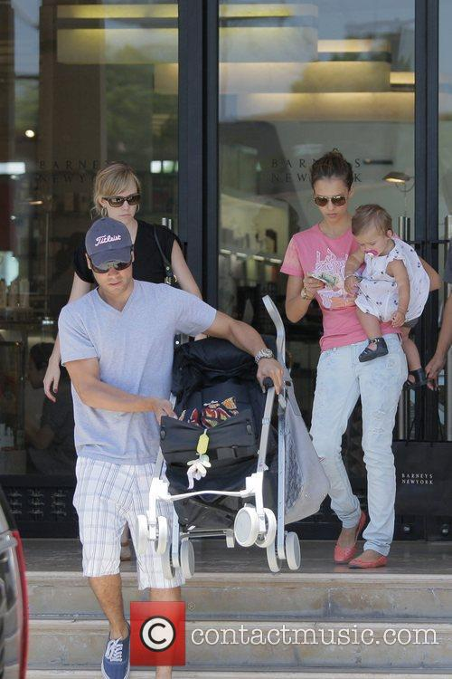 Jessica Alba, Cash Warren, Their Daughter and Honor Marie Warren 6