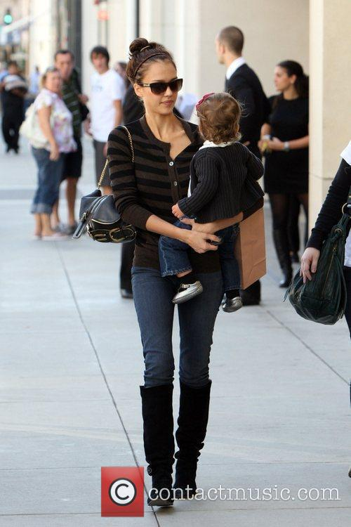Seen shopping on Rodeo Drive with her daughter,...