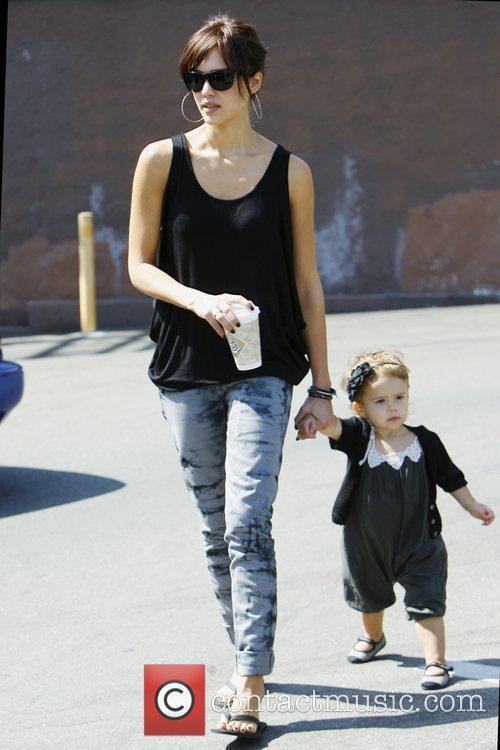 Jessica Alba, with daughter Honor Marie Warren