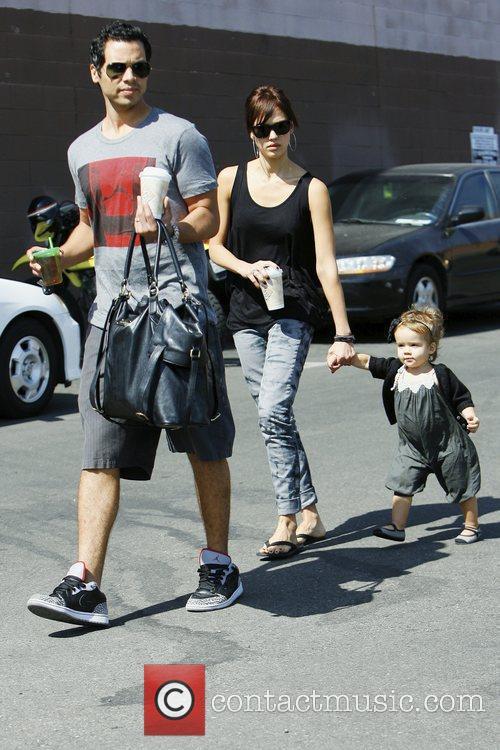 Jessica Alba, with husband Cash Warren and daughter Honor Marie Warren 8
