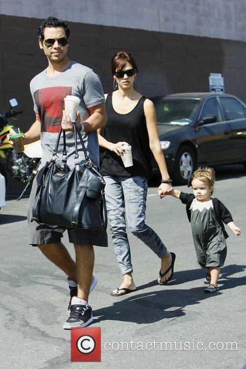 Jessica Alba, with husband Cash Warren and daughter Honor Marie Warren 9