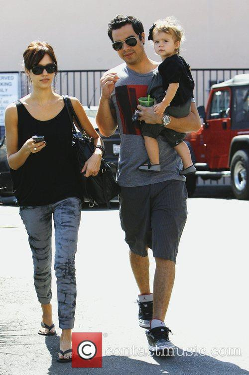 Jessica Alba, With Husband Cash Warren and Daughter Honor Marie Warren 1