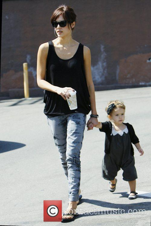 Jessica Alba and With Daughter Honor Marie Warren 3
