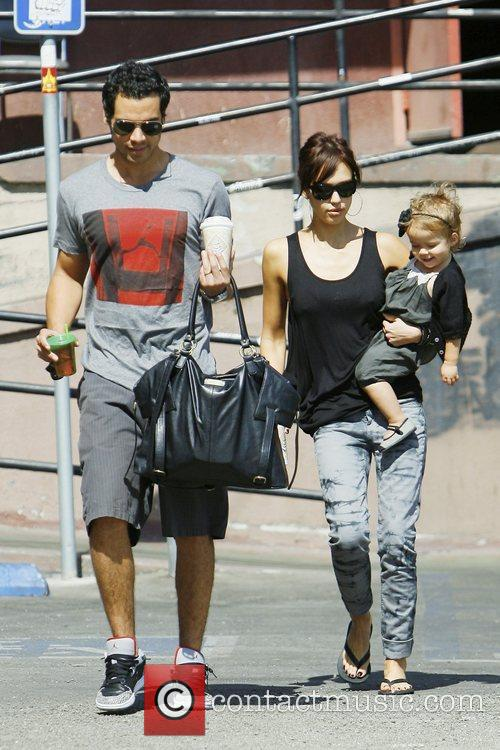 Jessica Alba, With Husband Cash Warren and Daughter Honor Marie Warren 6