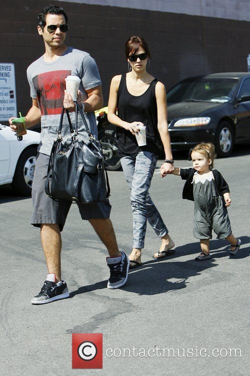 Jessica Alba, with husband Cash Warren and daughter Honor Marie Warren 10