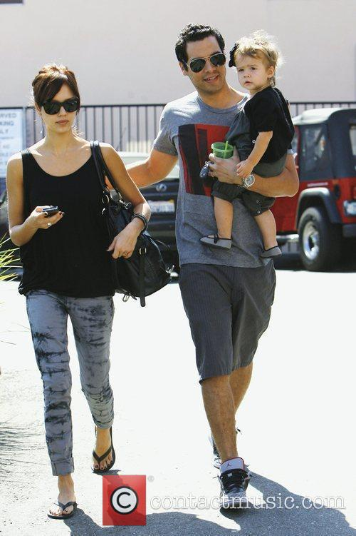Jessica Alba, With Husband Cash Warren and Daughter Honor Marie Warren 10