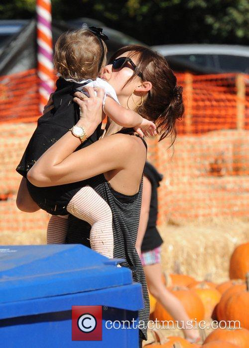 Jessica Alba takes her daughter, Honor Marie, to...