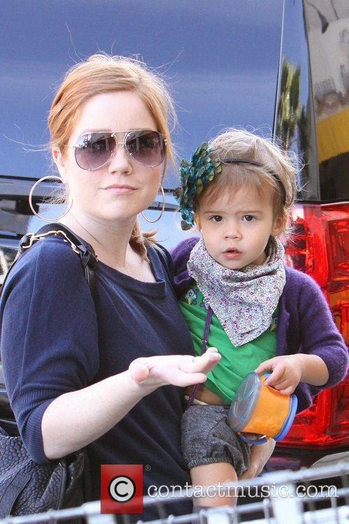 Jessica Alba's daughter, Honor Marie Warren, carried to...