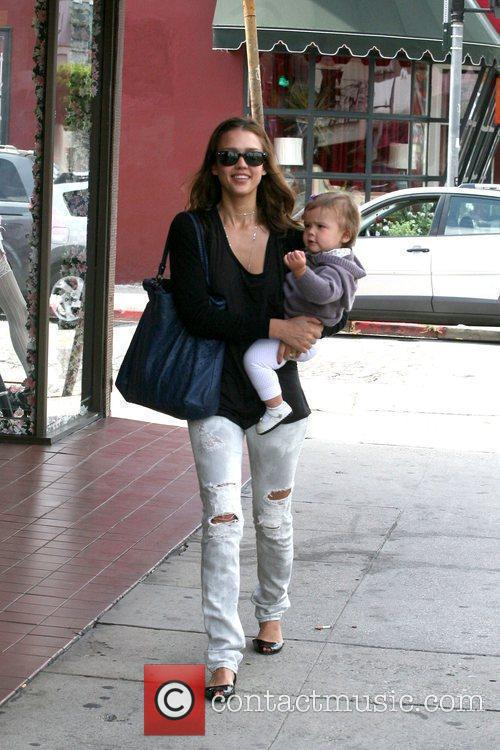 Jessica Alba and her daughter, Honor Marie Warren...