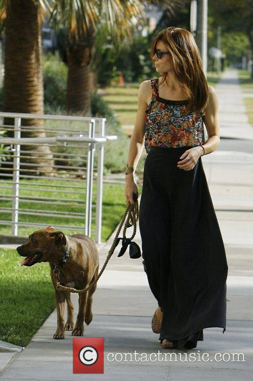 Jessica Biel seen walking her dog in Beverly...