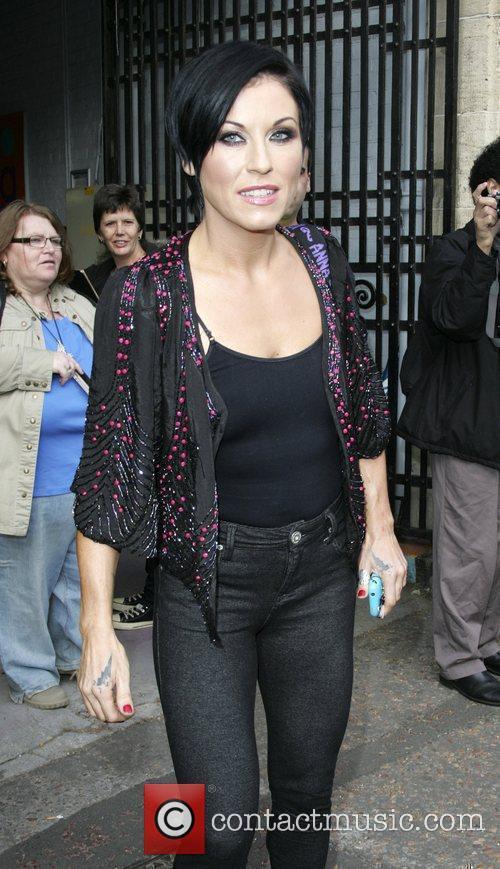 Jessie Wallace outside GMTV studios London, England