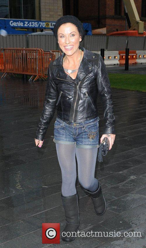 Jessie Wallace on her way to Caluccio's Restaurant...