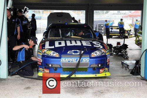 Behind the scenes at the Homestead-Miami Speedway Nascar...