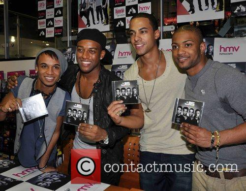 Aston Merrygold, Marvin Humes, Jonathan Gill and Oritse Williams of JLS 3