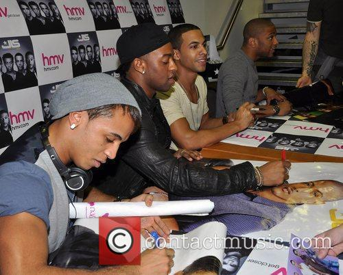 Aston Merrygold, Marvin Humes, Jonathan Gill and Oritse Williams of JLS 2