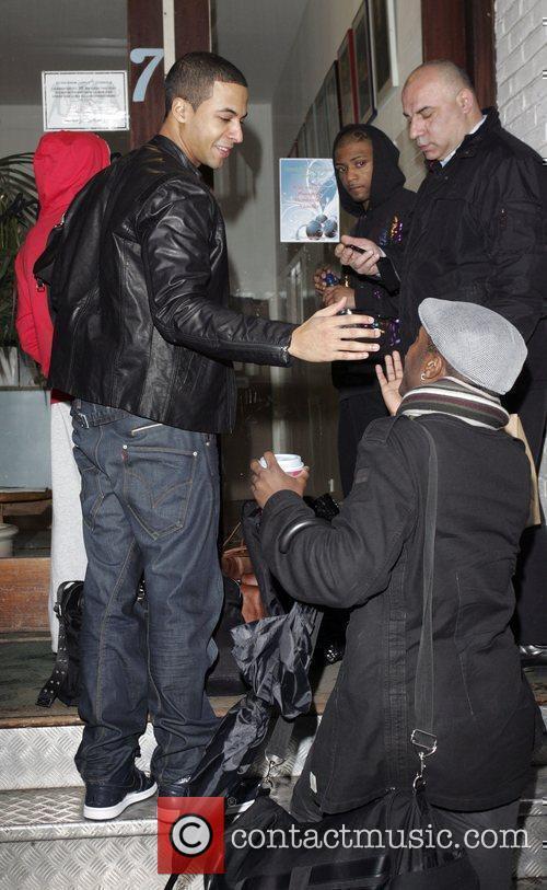 JLS arrive at a London dance studio London,...