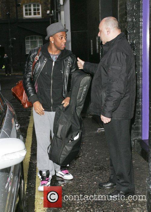 Oritse Williams of JLS arrives at a London...