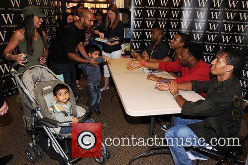 JLS signing copies of their new book 'JLS...