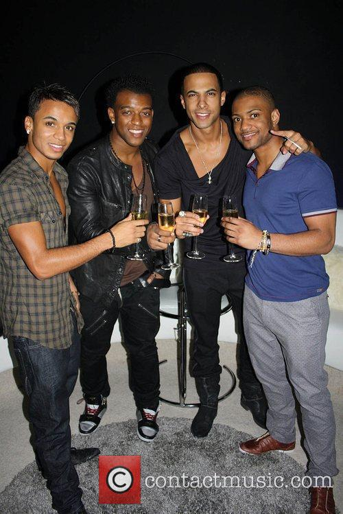 Aston Merrygold, Oritse Williams, Marvin Humes, and JB,...