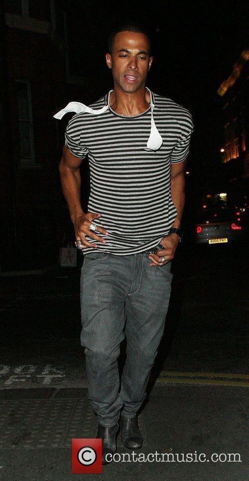 Marvin Humes leaving Funky Buddha nightclub London, England