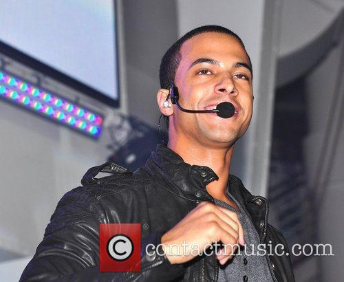 Marvin Humes of JLS performs at the turning...