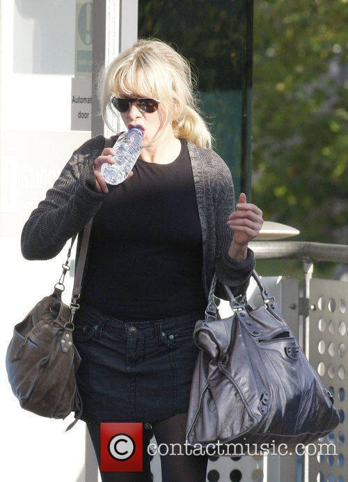 Jo Wood leaving dance rehearsals London, England