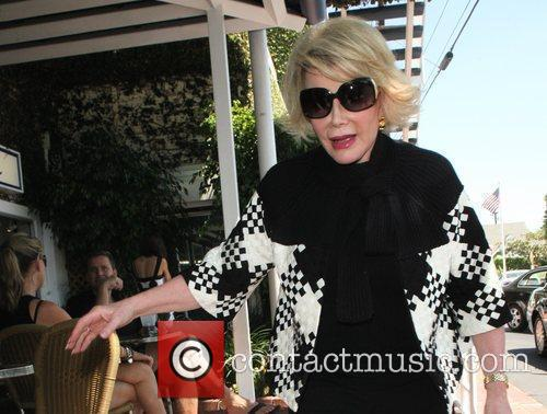 Joan Rivers, Carrying A Tan Hermes Handbag and Arrives At Fred Segal For Lunch 11