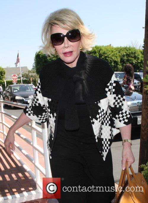 Joan Rivers, Carrying A Tan Hermes Handbag and Arrives At Fred Segal For Lunch 6