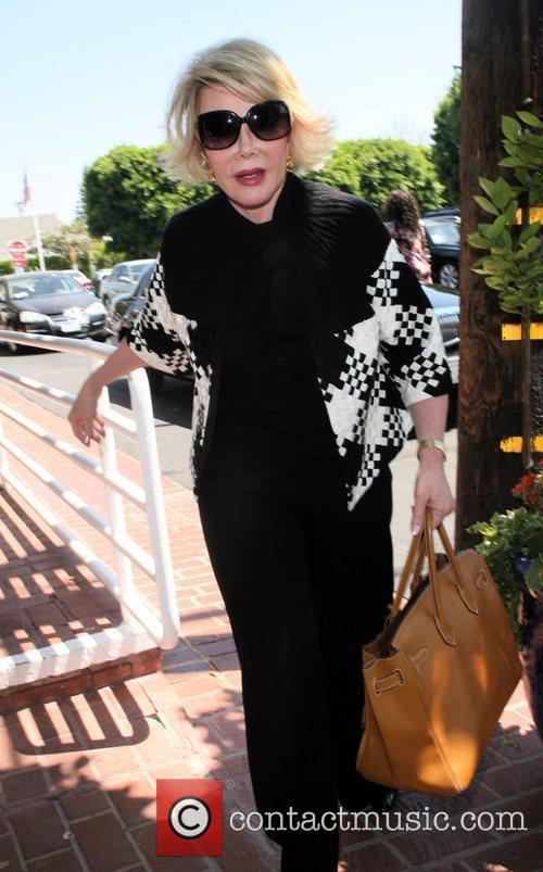 Joan Rivers, Carrying A Tan Hermes Handbag and Arrives At Fred Segal For Lunch 10
