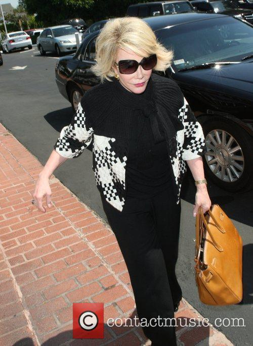 Joan Rivers, Carrying A Tan Hermes Handbag and Arrives At Fred Segal For Lunch 4