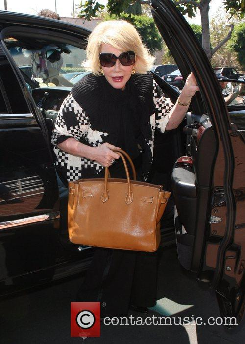 Joan Rivers, Carrying A Tan Hermes Handbag and Arrives At Fred Segal For Lunch 9