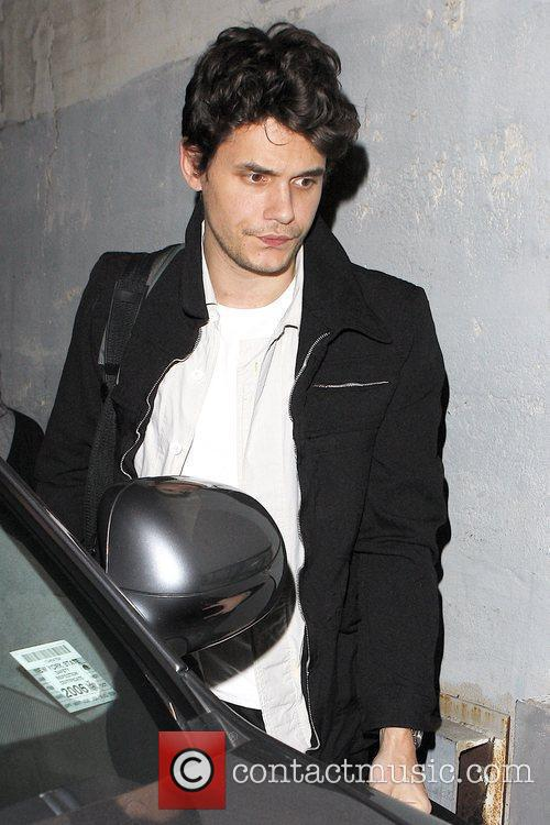 John Mayer outside Hotel Cafe in Hollywood where...